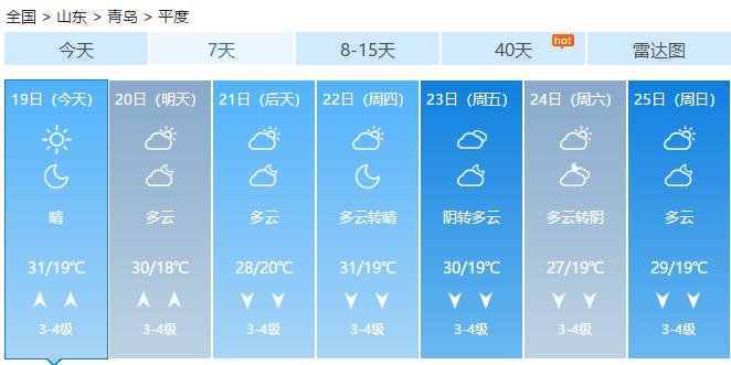 本周将迎来处暑节气 青岛最低温跌破20℃